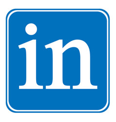 Linkedin icon on white vector