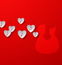 Love Music Concept Design vector image