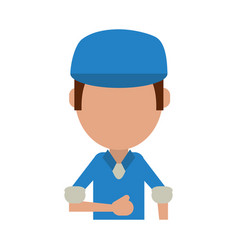 man avatar wearing hat or cap icon image vector image