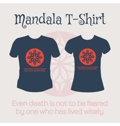 Mandala T-Shirt vector image