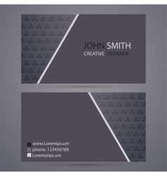 Modern business card template vector image