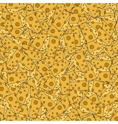 modern cheese seamles pattern background vector image