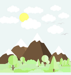 mountain scenery vector image
