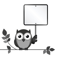 OWL SIGN vector image