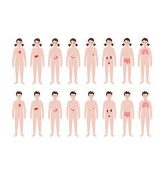 Pain in human body vector