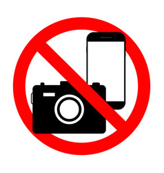 Phone forbidden sign photography prohibited photo vector
