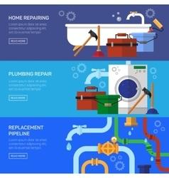 Plumbing repair fix clog pipeline vector