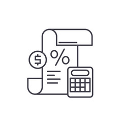 profit and loss statement line icon concept vector image