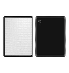 realistic tablet pc mock-up vector image