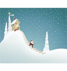 Santa Claus delivering gifts vector