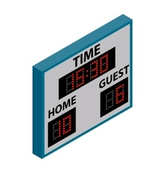 Scoreboard isometric 3d icon vector