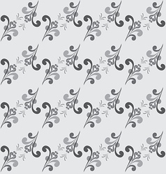 Seamless Abstract Floral GrayScale Pattern vector image