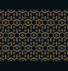 seamless linear pattern with thin elegant curved vector image