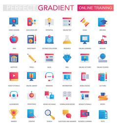 Set trendy flat gradient online vector