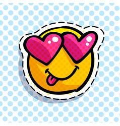 smile in love emoticon vector image