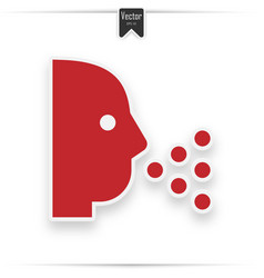 sneezing icon style is flat symbol vector image