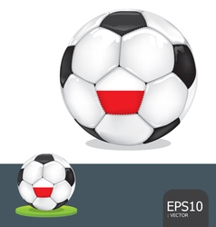soccer ball poland euro flag vector image