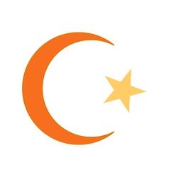 Star and crescent symbol icon vector