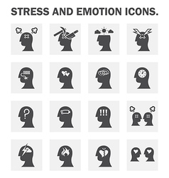 Stress icon vector