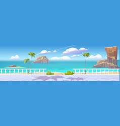 summer tropical landscape with sea and seafront vector image