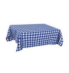 Tablecloth on table vector