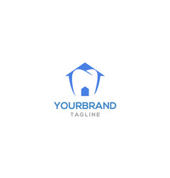 tooth house logo design vector image