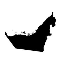 united arab emirates island map silhouette vector image