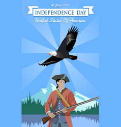 Usa independence day 4th july vector
