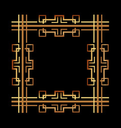 vintage geometric shape art deco retro frame vector image