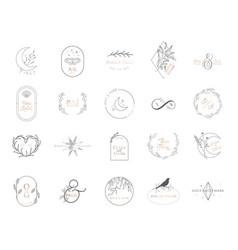 wedding monogram collection modern vector image