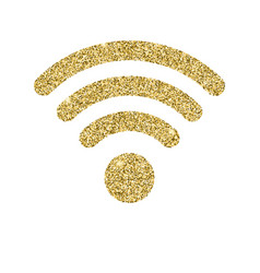 Wi-fi icon with glitter effect isolated on white vector
