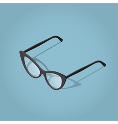 Woman Teacher Glasses for reading vector