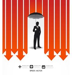 Businessman in umbrella creative finance safe idea vector