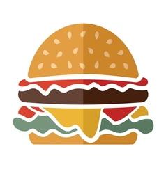 Flat hamburger icon vector image