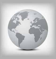 Gray globe icon on light gray vector