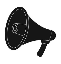 megaphone icon in black style isolated on white vector image vector image