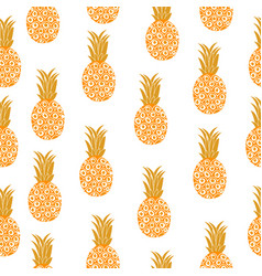 pineapple seamless texture pineapple background vector image vector image