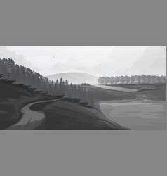 retro rural landscapes set in rural landscapes vector image