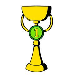 trophy cup icon icon cartoon vector image vector image