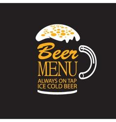 beer menu vector image