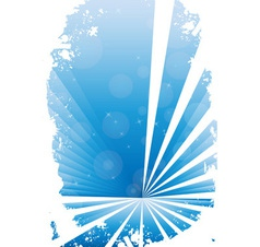 Blue grunge banner with white background vector image
