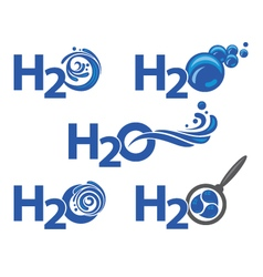 five water icons vector image vector image