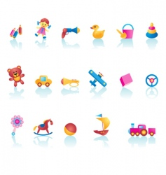 kid toys icons vector image vector image