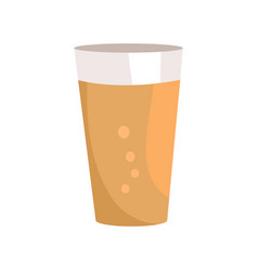 pint of dark beer in transparent glass icon vector image