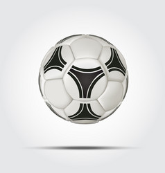 realistic soccer ball isolated on white background vector image