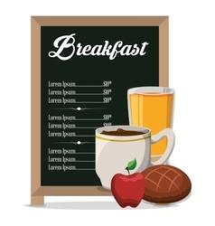 restaurant breakfast menu healthy meal vector image vector image