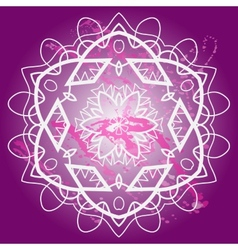 What is karma Oriental mandala motif vector image vector image
