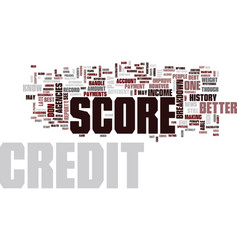 your credit score breakdown text background word vector image vector image