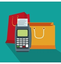 Bag shopping and ecommerce design vector