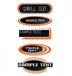 blank labels vector image vector image